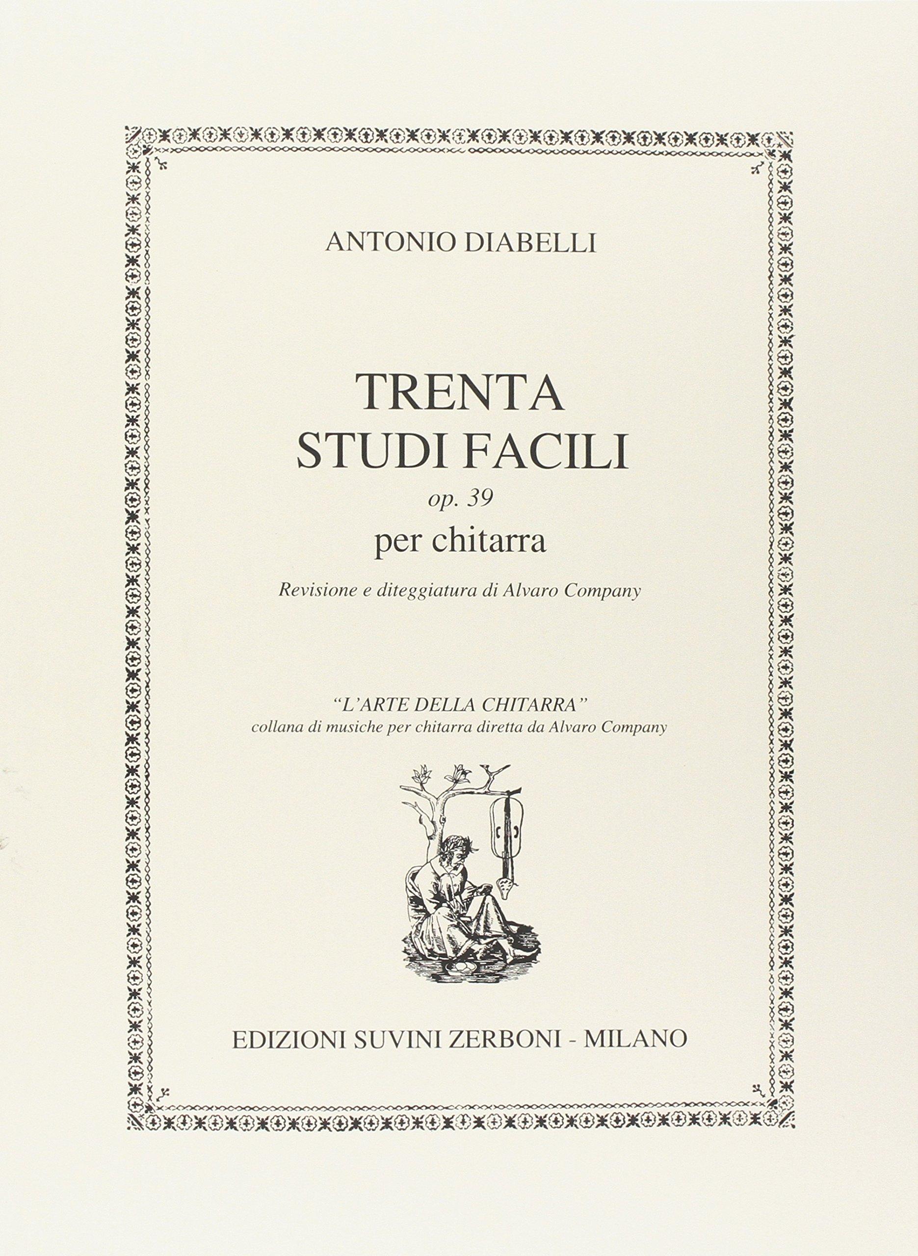 ESZ Trenta studi facili op.39 per chitarra - ANTONIO DIABELLI