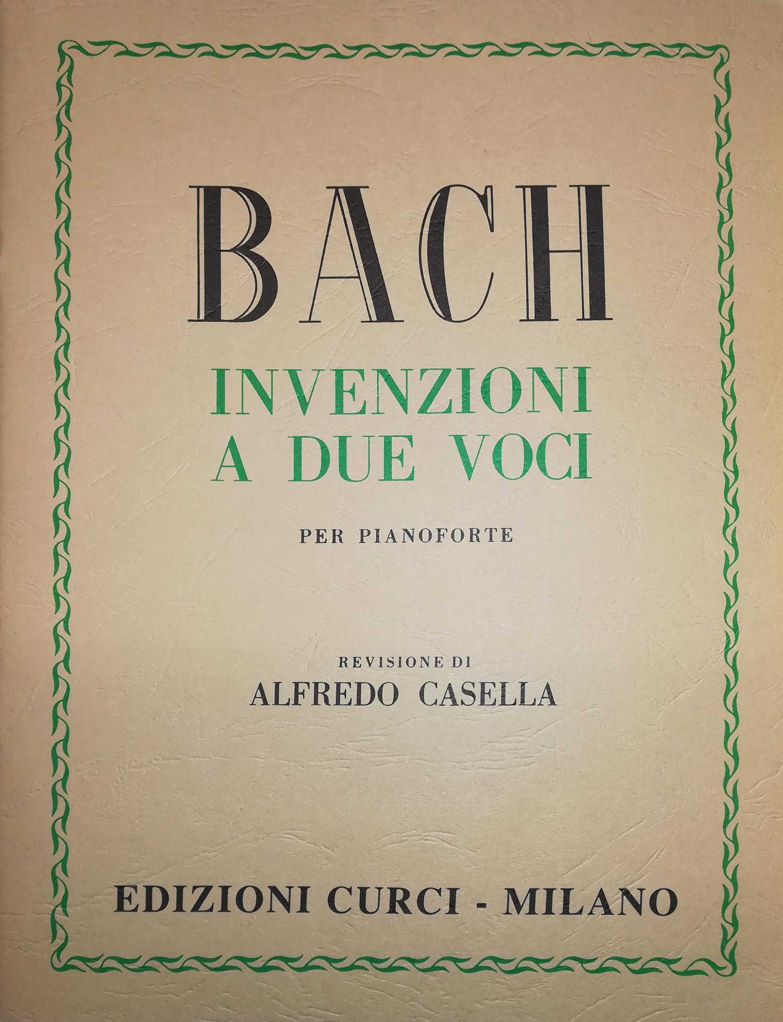 CURCI BACH Invenzioni a due voci per pianoforte - REV DI ALFREDO CASELLA
