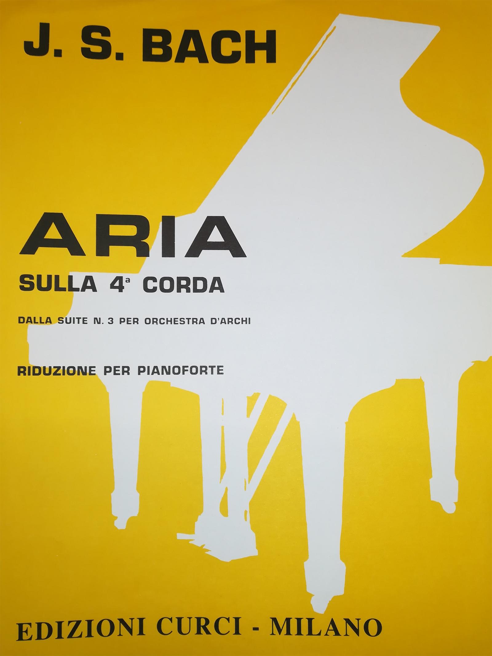 CURCI BACH Aria sulla 4a corda riduzione per pianoforte - DALLA SUITE N3 PER ORCHESTRA D'ARCHI