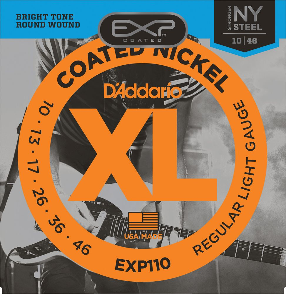 D'ADDARIO EXP110 - COATED NICKEL REGULAR LIGHT GAUGE 10 46