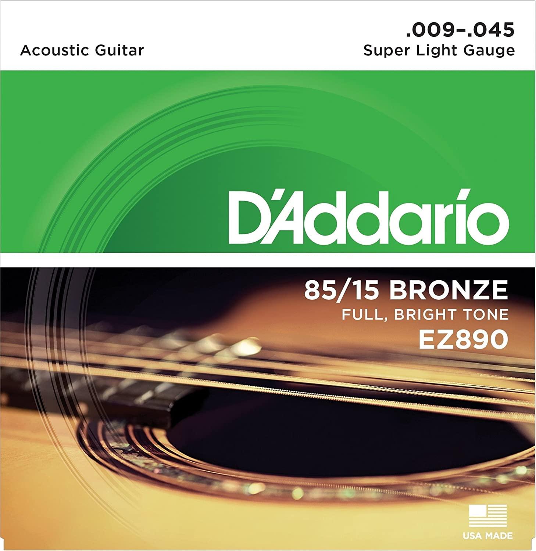 D'ADDARIO EZ890 - 85/15 BRONZE FULL BRIGHT TONE 09 45 ACOUSTIC GUITAR