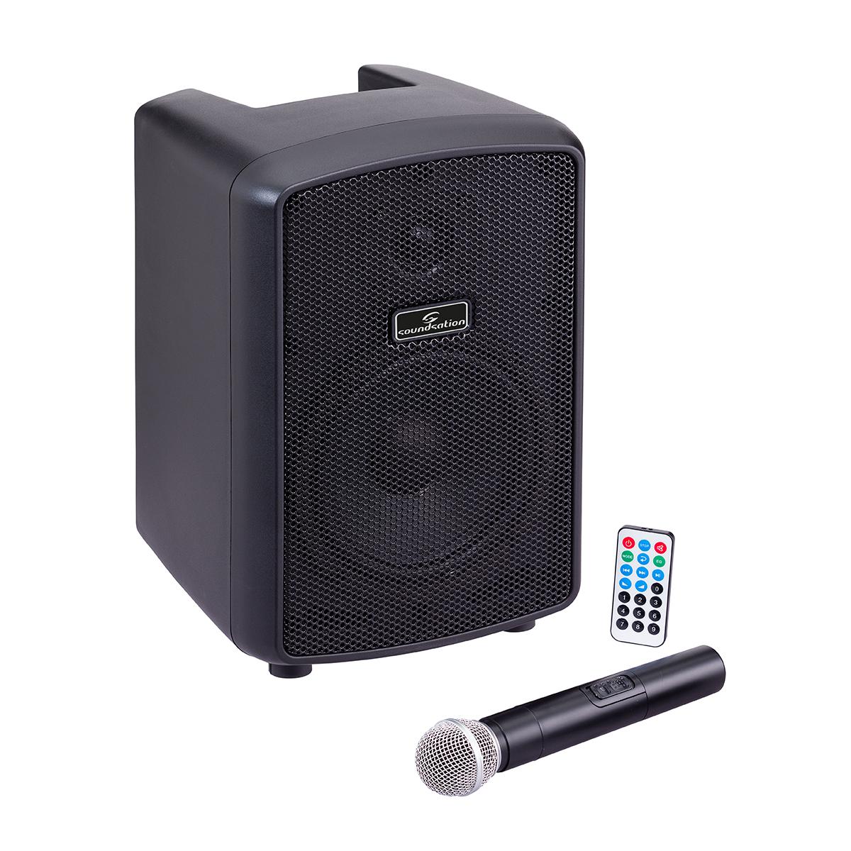 SOUNDSATION HYPER PLAY 6AMW - PA PORTATILE A BATTERIA MP3 BLUETOOTH MIC UHF
